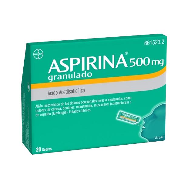 Imagen ampliada del producto ASPIRINA 500 MG GRANULADO 20 SOBRES