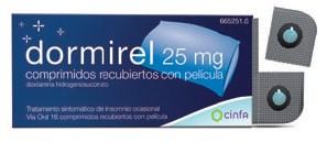 Imagen ampliada del producto DORMIREL 25 MG COMPRIMIDOS RECUBIERTOS CON PELÍCULA , 16 COMPRIMIDOS