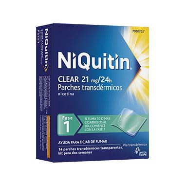 Imagen ampliada del producto NIQUITIN CLEAR 21 MG 14 PARCHES TRANSDÉRMICOS