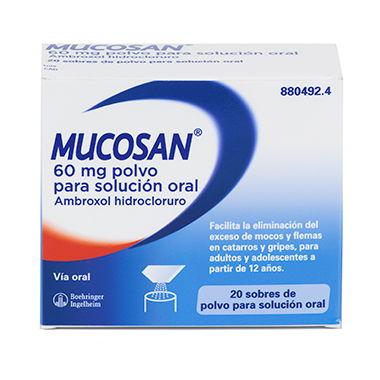 Imagen ampliada del producto MUCOSAN 60 MG POLVO PARA SOLUCIÓN ORAL, 20 SOBRES