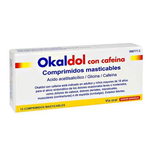 Imagen ampliada del producto OKALDOL CON CAFEÍNA 12 COMPRIMIDOS MASTICABLES